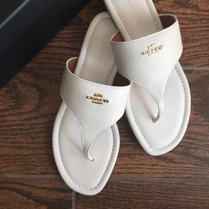 Coach Shoes - New Coach leather sandal.